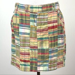 Tommy Hilfiger skirt 6 plaid pencil with pockets